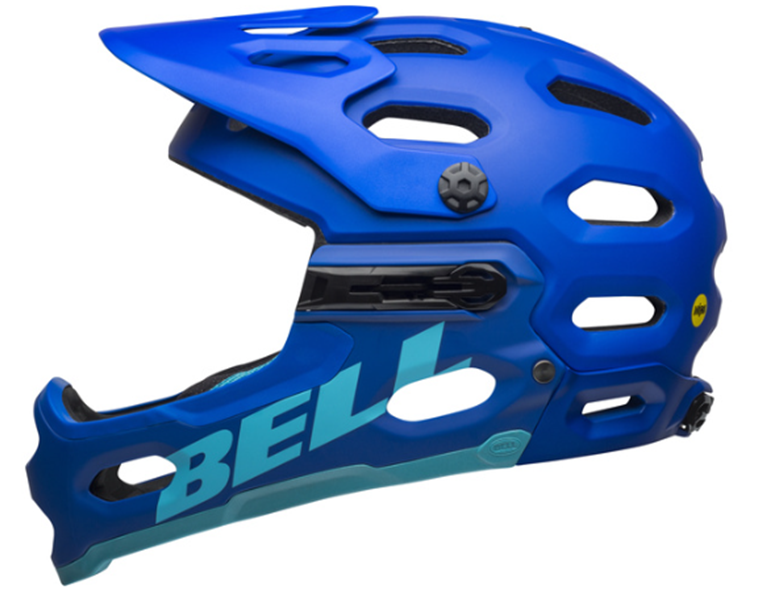 ČELADA BELL SUPER 3R MIPS MAT BLUE/BRIGHT BLUE
