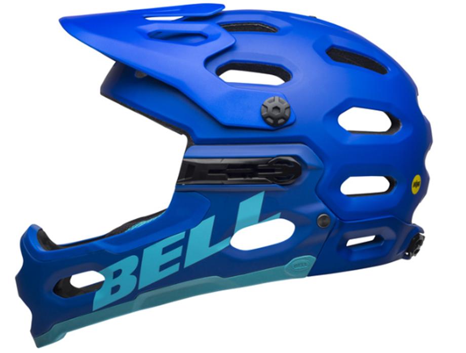 Slika ČELADA BELL SUPER 3R MIPS MAT BLUE/BRIGHT BLUE